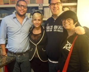 A la izquierda William Padrón con Marianne Malí y Chistian Gall