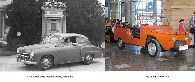 IAME Justicialista a la izquierda y a la derecha el Yagan, hecho en Chile