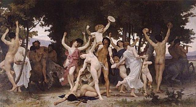 """""""Celebración de la Saturnalia, Roma, parte del festival del >"""""""